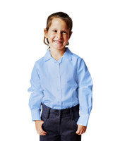 Organic School Uniform - Long Sleeve Blue Blouse