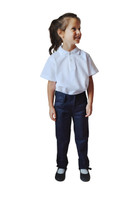 Organic School Uniform - Girl Navy Trousers Classic Fit