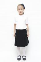 Organic School Uniform - Black Drop Waist Pleated Skirt