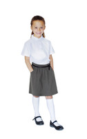 Organic School Uniform - Grey Bow Skirt