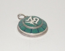 Silver and Jade OM locket