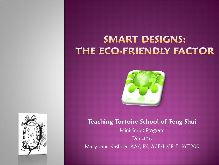 Smart Designs: The Eco-Friendly Factor