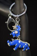Blue Rhino and Elephant Key Ring