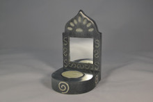 Heavy Gray Soapstone Candle Mirror (FSE-GI-SSMT)