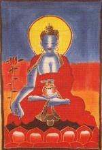 "Medicine Buddha Batik - 46"" x 31"""