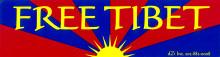 Free Tibet Bumpersticker