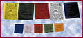 Tibetan Prayer Flags,Horizontal - sets of 25