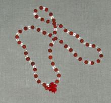 Mala of Rudraksha Beads and Natural Quartz Crystal