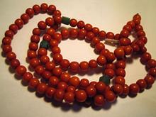 Yellow Amber Mala Necklace, Round Beads