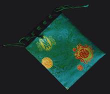 Green Satin Bag