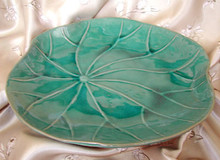 Lotus Leaf Ceramic Platter 13""