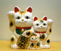 Lucky Cat Duo Bank with Kitten