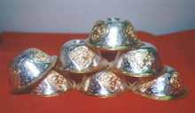 Silver and Gold Offering Bowls (Set of Seven)