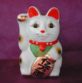 White Lucky Cat Bank