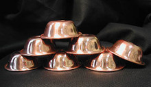 Copper Bowls, no decoration - Set of 7