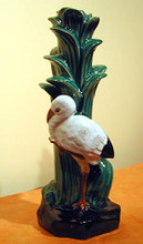 A very special item, this is an unusually beautiful ceramic vase with lovely color and detail!