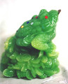 Green Three-Footed Wealth Frog