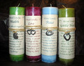 Each of these Ritual Candles has a pewter amulet to wear during the time you are focusing on your ritual.