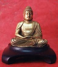 Classic Buddha, w wood pedestal