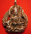 Large Padmasambhava Buddha Pendant with Sterling Chain
