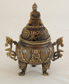With fabulous detail, this incense burner is 4.5 inches X 5.5 inches, a nice size for shrine or table.