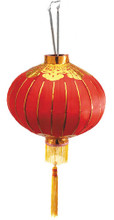 Lantern, Red Silk Chinese Style
