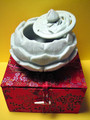 Carved Soapstone Lotus Bowl/iIncense Burner