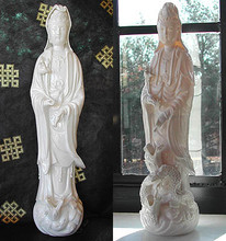 Standing Kuan Yin with 3 Dragons 16 in. tall