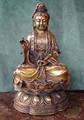 Brass Kuan Yin, 10 in.