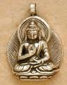 Silver Amoghsiddhi Buddha Pendant