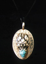 DragonWear Sterling & Semi-Precious Stone Dragon Pendant w/chain