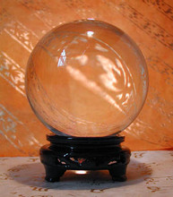 Round Crystal Ball with Stand