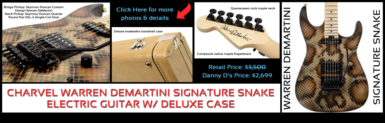 Charvel New Warren Demartini Signature Snake Guitar