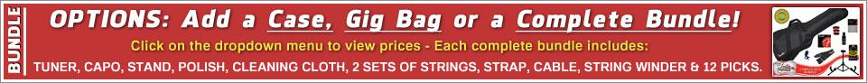 Add a case, gig bag or bundle