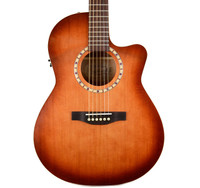 Art & Lutherie Folk CW Cedar Antique Burst QI Acoustic Guitar