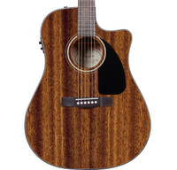 Fender CD-60CE Acoustic Guitar - All Mahogany w/ Case