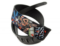 Levy's Leathers Guitar Strap w/ Pin-up girl design, Satin - M17SP-002