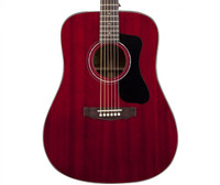 Guild D-125 All-Mahogany Acoustic Guitar, - Cherry Red.