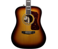 Guild D-55 Rosewood Acoustic Guitar - Antique Burst w/ Case