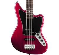 Fender Vintage Modified Jaguar Bass V Special - Crimson Red Transparent