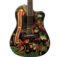 Fender Vince Ray Spook Show T-Bucket Acoustic Guitar - Custom Graphic