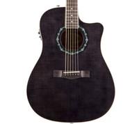 Fender T-Bucket 300 CE Guitar - Transparent Black, Flame Maple