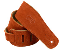 Levy's Leather Guitar Strap w/ Taylor logo, Suede Leather - Copper