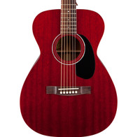 Guild M-120 Mahogany Concert Acoustic Guitar, Cherry Red, with Case