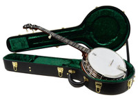Deering Deluxe 5 String Mahogany Banjo with Hardshell Case