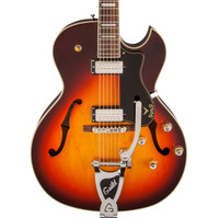 Guild CE-100D Capri Electric Hollowbody Guitar w/ Bigsby - Antique Burst