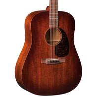 Martin D-15M Burst All Mahogany Acoustic Guitar w/ Hardshell Case