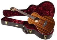 Taylor Custom Grand Concert Cocobolo/Sinker Redwood Guitar w/ Case