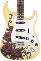 Fender Special Edition David Lozeau Rose Tattoo Standard Strat, w/Bag
