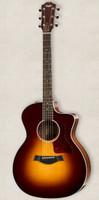 Taylor 214ce Deluxe Acoustic Guitar - Sunburst, ES2 with Case